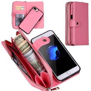 NWOT Pink Phone Case Wallet Clutch
